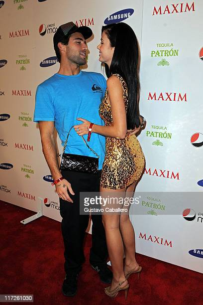 TV personality Brody Jenner and Jayde Nicole attend The Maxim Party hosted by Samsung Patron Gillette Pepsi Max to kick off Super Bowl Weekend at The...