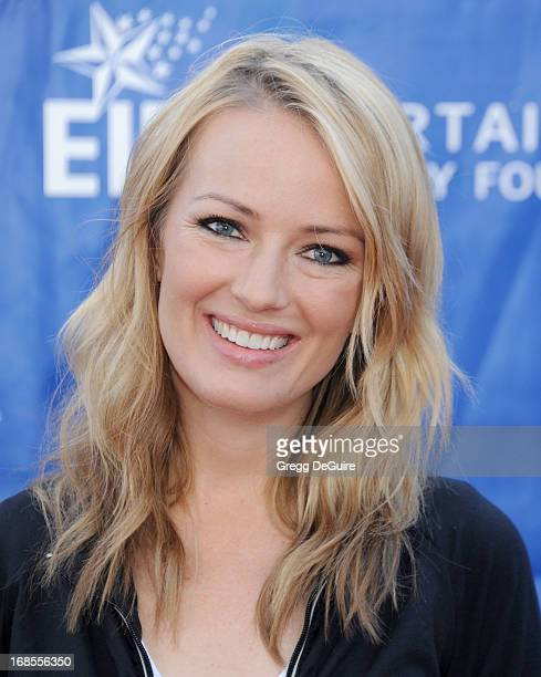 TV personality Brooke Anderson arrives at the 20th Annual EIF Revlon Run/Walk For Women at Los Angeles Memorial Coliseum on May 11 2013 in Los...
