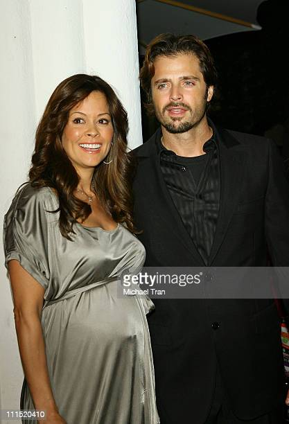"""Personality Brooke Burke and actor David Charvet arrive at the Los Angeles premiere of """"The Business of Being Born"""" held at the Fine Arts Theatre on..."""