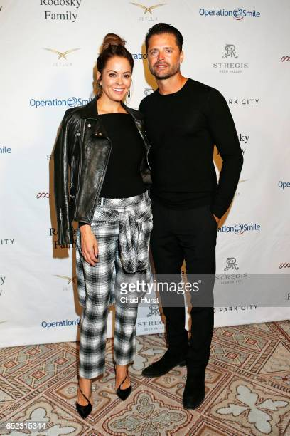 TV personality Brooke Burke and Actor David Charvet attend Operation Smile's Celebrity Ski Smile Challenge Presented by the Rodosky Family on March...