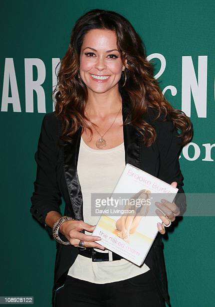 """Personality Brooke Burke attends a signing for her book """"The Naked Mom"""" at Barnes & Noble Booksellers at The Grove on February 8, 2011 in Los..."""