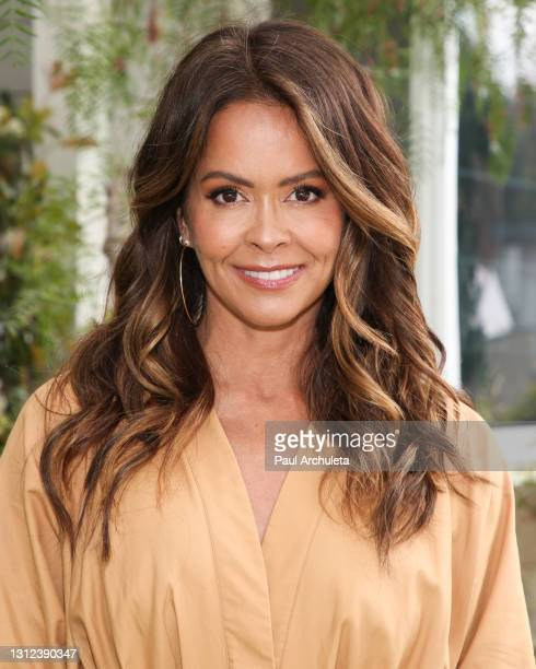 """Personality Brooke Burke visits Hallmark Channel's """"Home & Family"""" at Universal Studios Hollywood on April 13, 2021 in Universal City, California."""