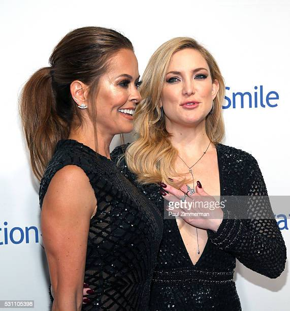 TV personality Brooke BurkeCharvet and actress Kate hudson attend the 2016 Operation Smile Gala at Cipriani 42nd Street on May 12 2016 in New York...