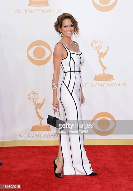 TV personality Brooke BurkeCharvet arrives at the 65th Annual Primetime Emmy Awards held at Nokia Theatre LA Live on September 22 2013 in Los Angeles...