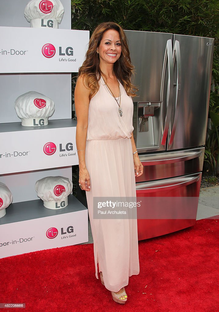 TV Personality Brooke Burke-Charvet attends the Junior Chef Academy event at The Washbow on July 15, 2014 in Culver City, California.