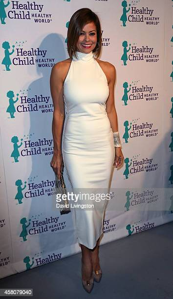 TV personality Brooke BurkeCharvet attends the Mom On A Mission 6th Annual Awards Gala at the London Hotel on October 29 2014 in West Hollywood...