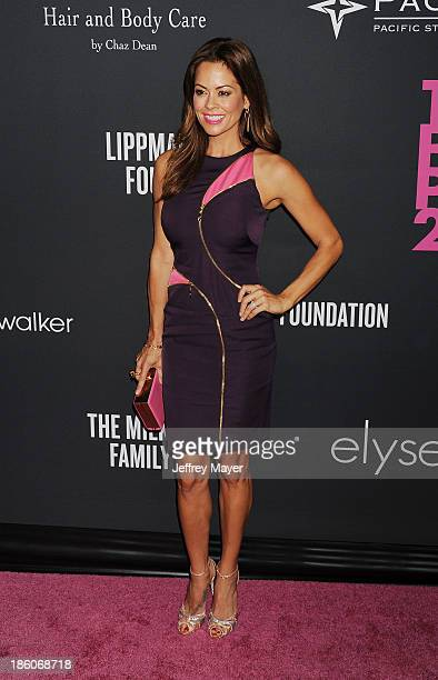 Personality Brooke Burke-Charvet attends The Pink Party 2013 at Barker Hangar on October 19, 2013 in Santa Monica, California.