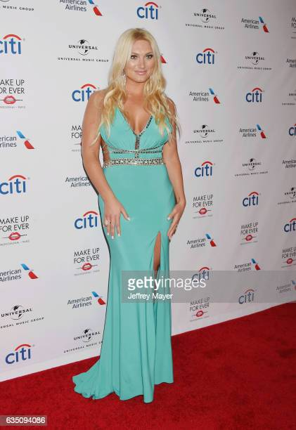 Personality Brooke Hogan arrives at the Universal Music Group's 2017 GRAMMY After Party at The Theatre at Ace Hotel on February 12, 2017 in Los...