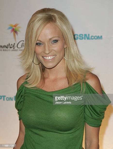Personality Brooke Long attends the 6th Annual World Poker Tour Invitational Cocktail Party at the Commerce Casino on March 1, 2008 in Los Angeles,...