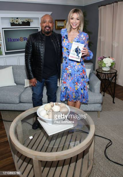 """Personality / Businessman Daymond John and Home & Family Host Debbie Matenopoulos on the set of Hallmark Channel's """"Home & Family"""" at Universal..."""