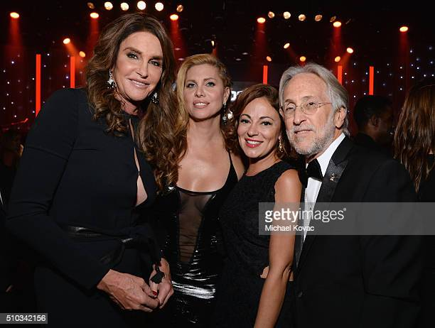 TV personality Caitlin Jenner actress Candis Cayne Michelle Tebbe and National Academy of Recording Arts and Sciences President Neil Portnow attend...