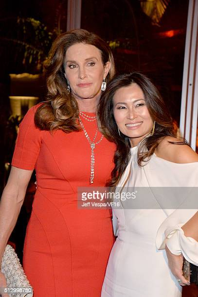 TV personality Caitlyn Jenner attends the 2016 Vanity Fair Oscar Party Hosted By Graydon Carter at the Wallis Annenberg Center for the Performing...