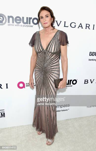 TV personality Caitlyn Jenner attends the 25th Annual Elton John AIDS Foundation's Academy Awards Viewing Party at The City of West Hollywood Park on...