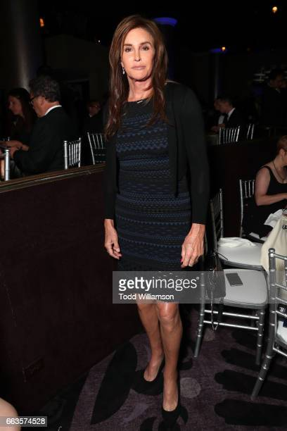 TV personality Caitlyn Jenner attends the 28th Annual GLAAD Media Awards in LA at The Beverly Hilton Hotel on April 1 2017 in Beverly Hills California