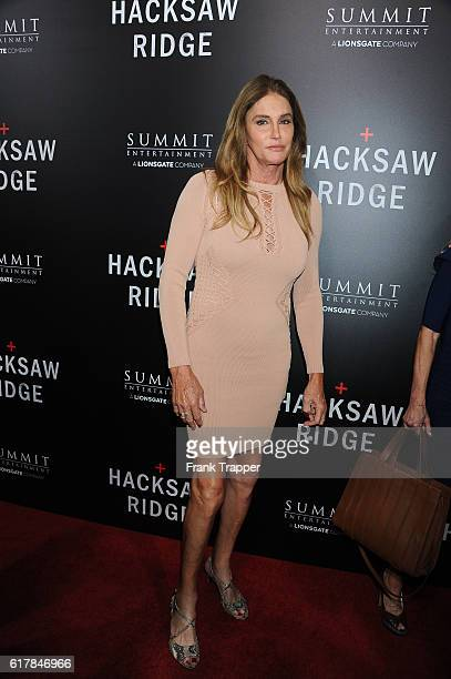 TV personality Caitlyn Jenner attends the screening of Summit Entertainment's Hacksaw Ridge held at the Samuel Goldwyn Theater on October 24 2016 in...