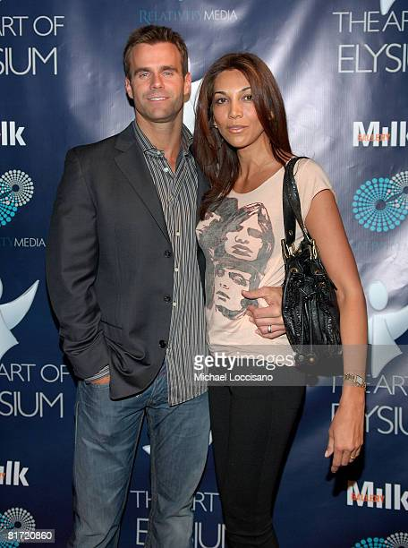 TV personality Cameron Mathison and Vanessa Arevalo attend Rebel Rebel a Milk Gallery Project presented by The Art of Elysium on June 24 2008 at the...