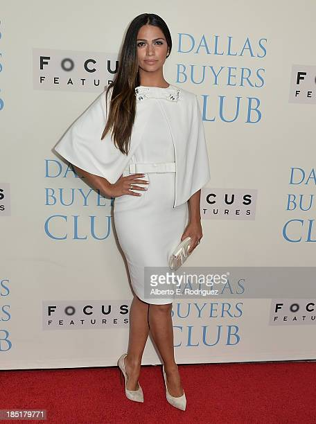 TV personality Camila Alves attends Focus Features' 'Dallas Buyers Club' premiere at the Academy of Motion Picture Arts and Sciences on October 17...
