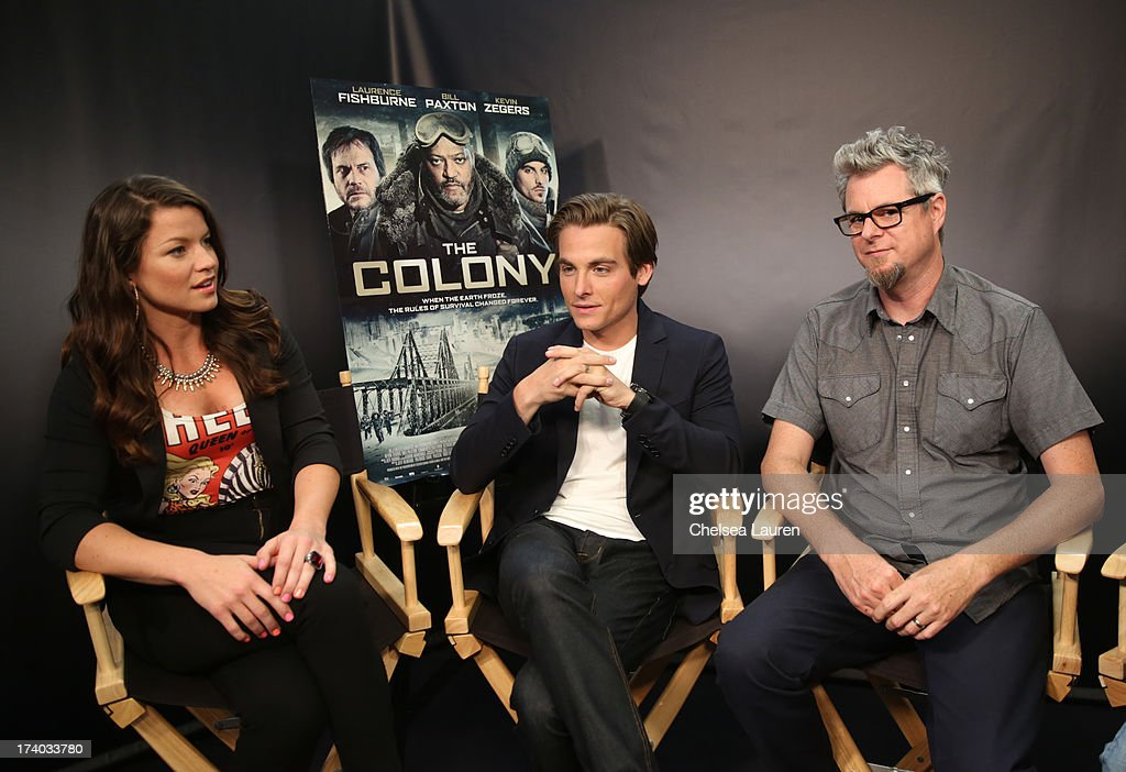 TV Personality Camille Ford, actor Kevin Zegers, and director Jeff Renfroe attend 'The Colony' at The Movies On Demand Lounge during Comic-Con International 2013 at Hard Rock Hotel San Diego on July 19, 2013 in San Diego, California.