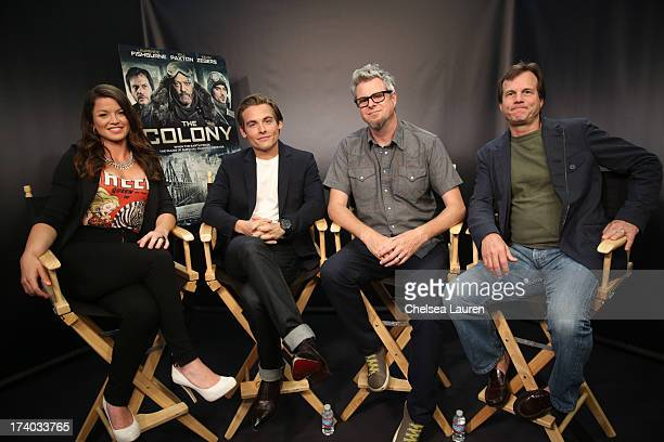 TV Personality Camille Ford actor Kevin Zegers director Jeff Renfroe and actor Bill Paxton attend 'The Colony' at The Movies On Demand Lounge during...