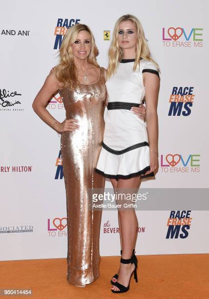 TV personality Camille Grammer and daughter Mason Olivia Grammer arrive at the 25th Annual Race to Erase MS Gala at The Beverly Hilton Hotel on April...