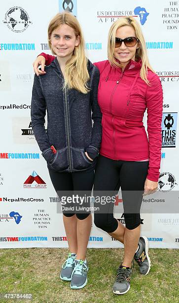 TV personality Camille Grammer and daughter Mason Olivia Grammer attend the Josh Duhamel Relief Run with the wwwThisTimeFoundationOrg to raise funds...