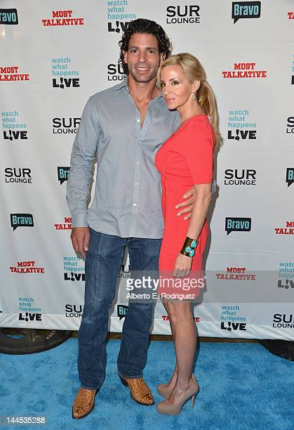 TV personality Camille Grammer arrives to Bravo Media's celebration of the book release of Andy Cohen's Most Talkative Stories From The Front Lines...