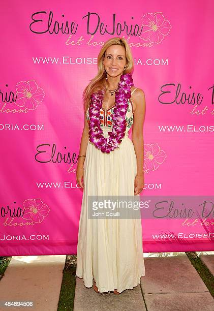 TV personality Camille Grammer attends the Eloise Dejoria Fashionwear Launch at a Private Residence on August 22 2015 in Malibu California