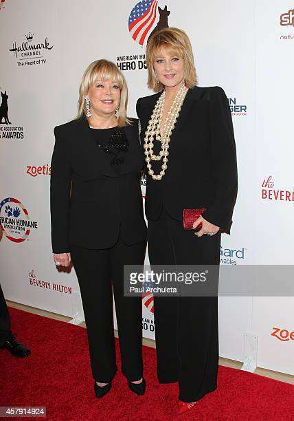 Personality Candy Spelling and Actress Cristina Ferrare attend the 4th annual American Humane Association Hero Dog Awards at The Beverly Hilton Hotel...