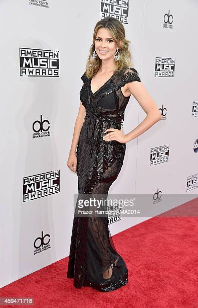 TV personality Carly Steel attends the 2014 American Music Awards at Nokia Theatre LA Live on November 23 2014 in Los Angeles California