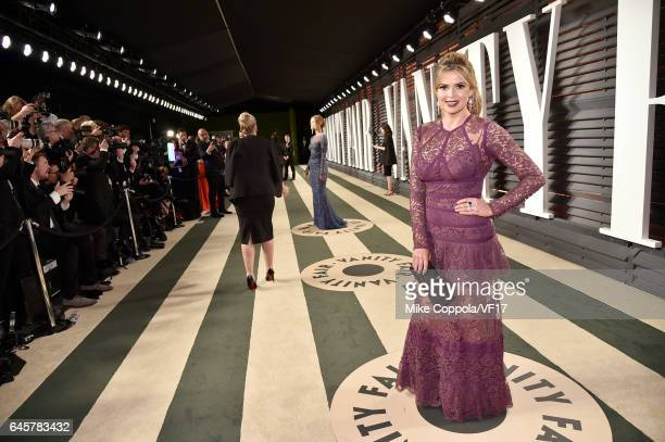 TV personality Carly Steel attends the 2017 Vanity Fair Oscar Party hosted by Graydon Carter at Wallis Annenberg Center for the Performing Arts on...