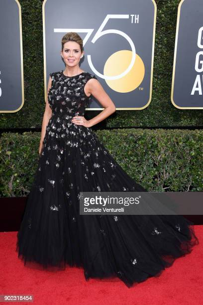 Personality Carly Steel attends The 75th Annual Golden Globe Awards at The Beverly Hilton Hotel on January 7 2018 in Beverly Hills California