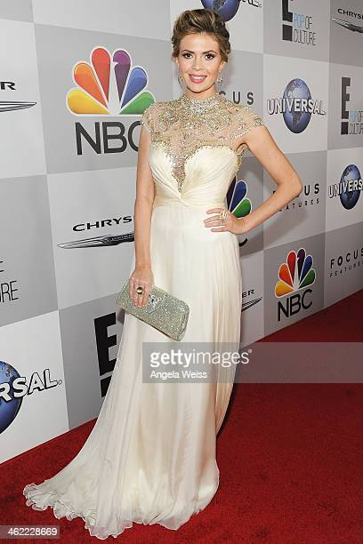 TV personality Carly Steel attends the Universal NBC Focus Features E sponsored by Chrysler viewing and after party with Gold Meets Golden held at...