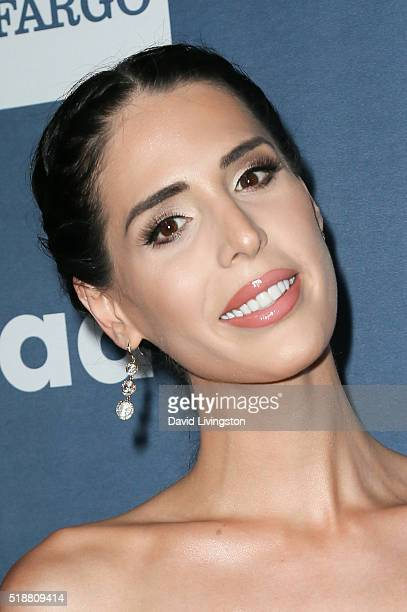TV personality Carmen Carrera arrives at the 27th Annual GLAAD Media Awards at The Beverly Hilton Hotel on April 2 2016 in Beverly Hills California