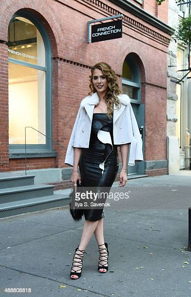 TV personality Carmen Carrera attends Shop Rock With French Connection X Handsome Ghost at French Connection Soho on September 17 2015 in New York...