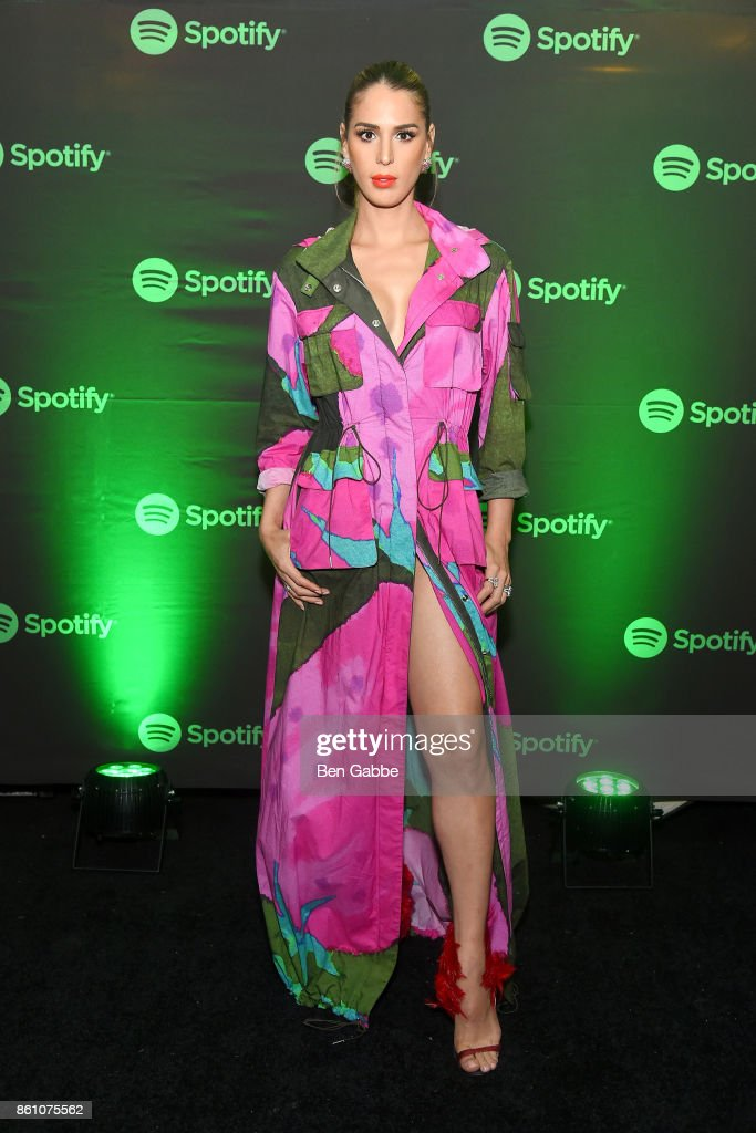 TV personality Carmen Carrera attends Spotify's Soundtrack de Mi Vida Campaign Celebration on October 13, 2017 in New York City.