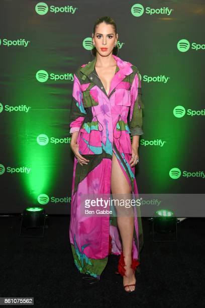 TV personality Carmen Carrera attends Spotify's Soundtrack de Mi Vida Campaign Celebration on October 13 2017 in New York City