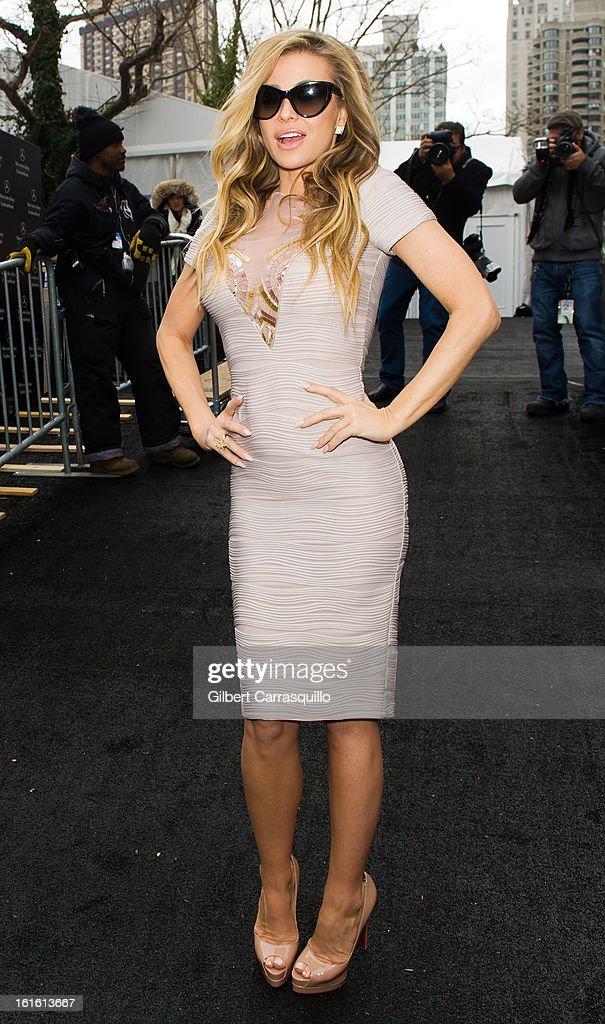TV Personality Carmen Electra attends Fall 2013 Mercedes-Benz Fashion Show at The Theater at Lincoln Center on February 12, 2013 in New York City.
