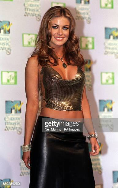TV personality Carmen Electra one of the presenters of the MTV European Music Awards at The Point Dublin * Carmen is the wife of NBA basketball...