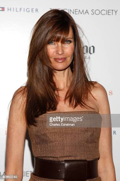 TV personality Carol Alt attends a screening of Precious hosted by the Cinema Society Tommy Hilfiger at the Crosby Street Hotel on November 5 2009 in...