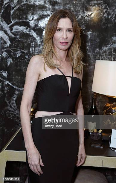 TV personality Carole Radziwill attends VIOLET GREY Honors Elizabeth Taylor At She's So Violet Salon Dinner on February 26 2014 in Los Angeles...