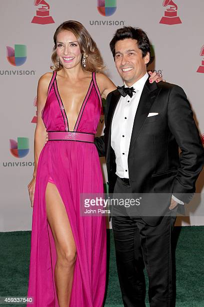 TV personality Carolina de Moras and Rafael Araneda attend the 15th annual Latin GRAMMY Awards at the MGM Grand Garden Arena on November 20 2014 in...