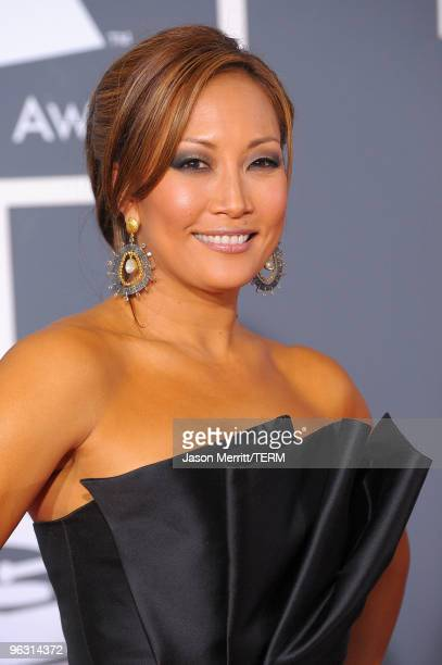 TV personality Carrie Ann Inaba arrives at the 52nd Annual GRAMMY Awards held at Staples Center on January 31 2010 in Los Angeles California
