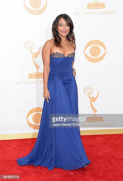 TV personality Carrie Ann Inaba arrives at the 65th Annual Primetime Emmy Awards held at Nokia Theatre LA Live on September 22 2013 in Los Angeles...