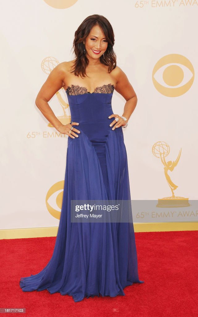 TV personality Carrie Ann Inaba arrives at the 65th Annual Primetime Emmy Awards at Nokia Theatre L.A. Live on September 22, 2013 in Los Angeles, California.