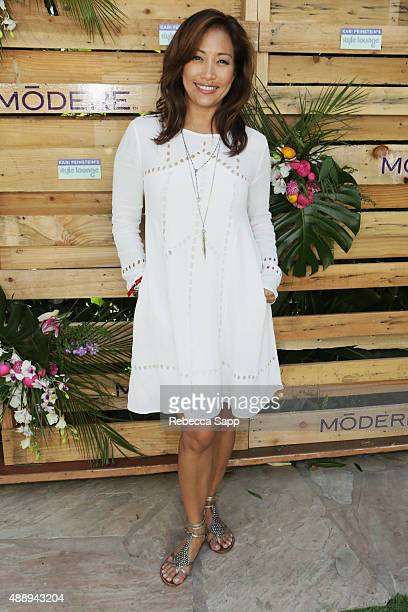 TV personality Carrie Ann Inaba attends Kari Feinstein's Style Lounge at Sunset Marquis Hotel Villas on September 18 2015 in West Hollywood California