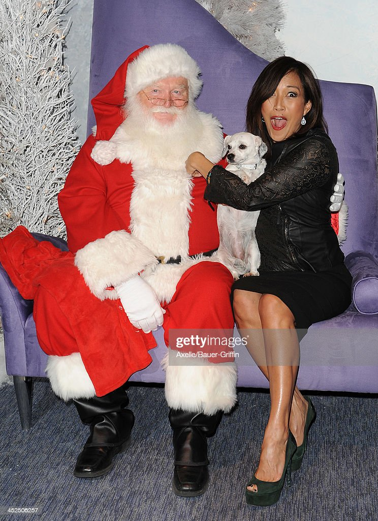 TV personality Carrie Ann Inaba attends The Beverly Center Kicks Off 'Holiday Pet Portraits With Santa!' at The Beverly Center on November 14, 2013 in Los Angeles, California.