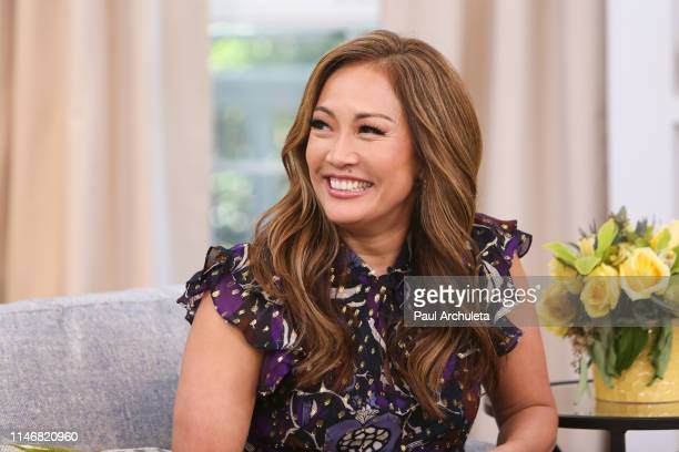 Personality Carrie Ann Inaba visits Hallmark's Home Family at Universal Studios Hollywood on May 3 2019 in Universal City California