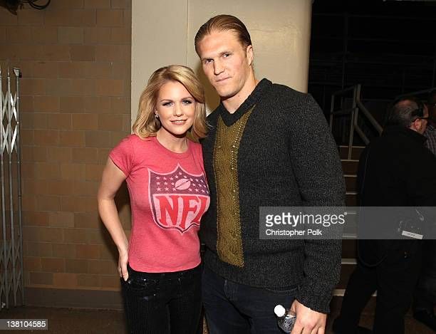 TV personality Carrie Keagan and Green Bay Packers Linebacker Clay Matthews III attend VH1's Super Bowl Fan Jam at Indiana State Fairgrounds Pepsi...