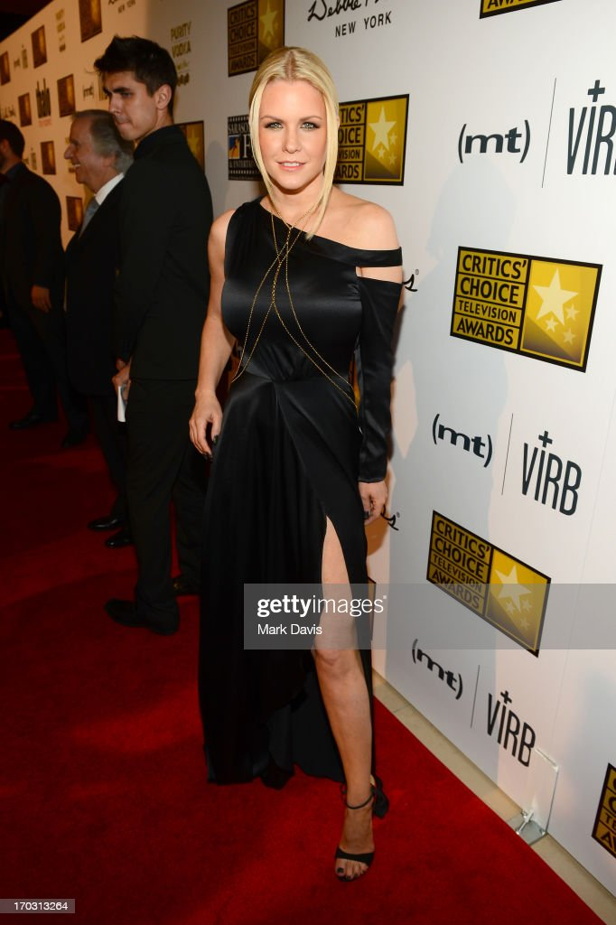 TV personality Carrie Keagan arrives at Broadcast Television Journalists Association's third annual Critics' Choice Television Awards at The Beverly Hilton Hotel on June 10, 2013 in Los Angeles, California.