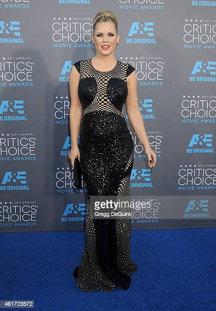 TV personality Carrie Keagan arrives at the 20th Annual Critics' Choice Movie Awards at Hollywood Palladium on January 15 2015 in Los Angeles...